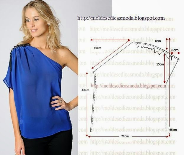 Выкройки летних блузок и майки
