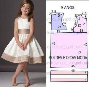 Выкройки платьев для девочек 8-9 лет (Шитье и крой)