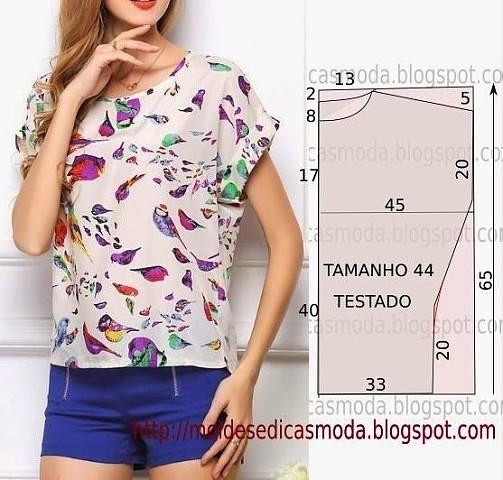 Сшить летнюю блузку своими руками