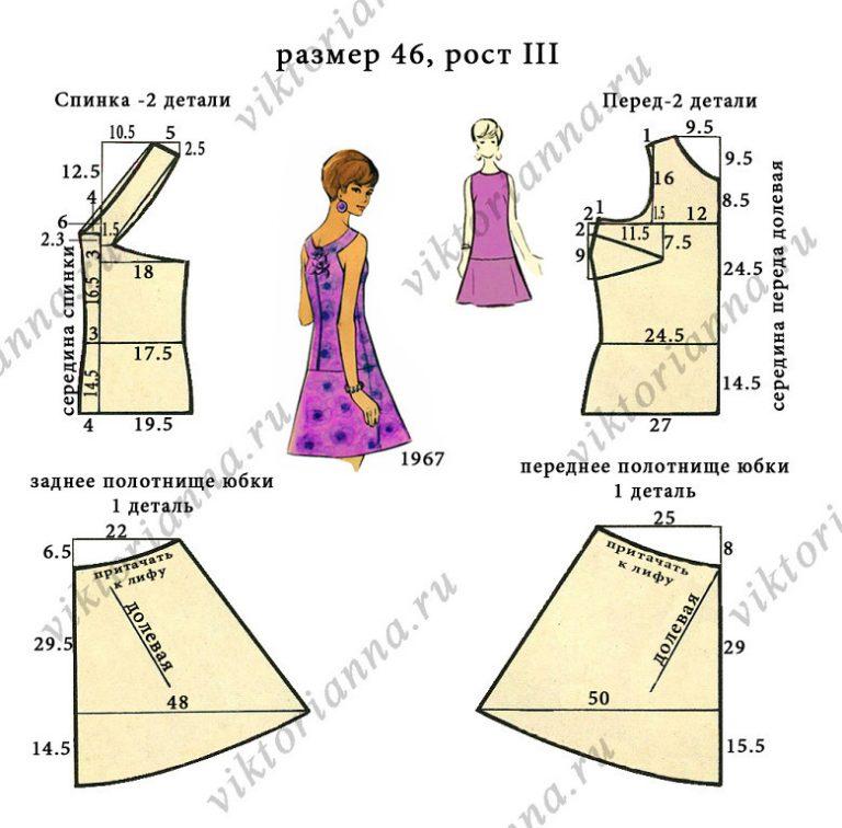 Модели летних платьев и выкройки к ним