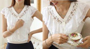 Выкройка блузки с кружевной вставкой (Шитье и крой)