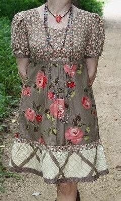 Выкройка платья с завышенной талией (Шитье и крой)