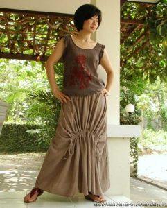 Выкройка юбки в стиле бохо (Шитье и крой)