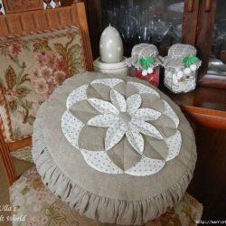 Подушка с цветком в технике лоскутного шитья (Шитье и крой)