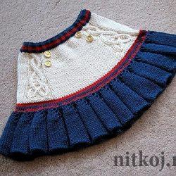 Юбка  для девочки «Асоль» (Вязание спицами)