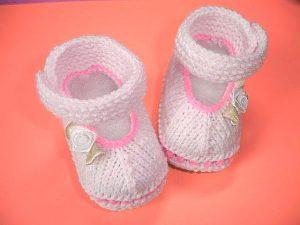 Пинетки спицами для новорожденных (Вязание спицами)