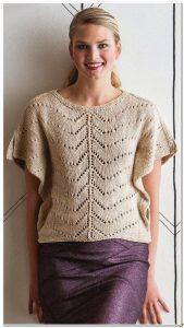 Красивая кофточка спицами схема вязания ажурного узора (Вязание спицами)