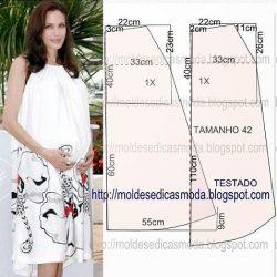 Выкройка платья для беременных (Шитье и крой)