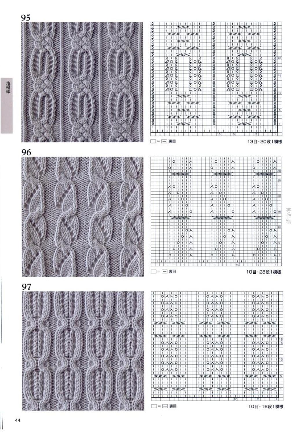 Большая подборка узоров вязания