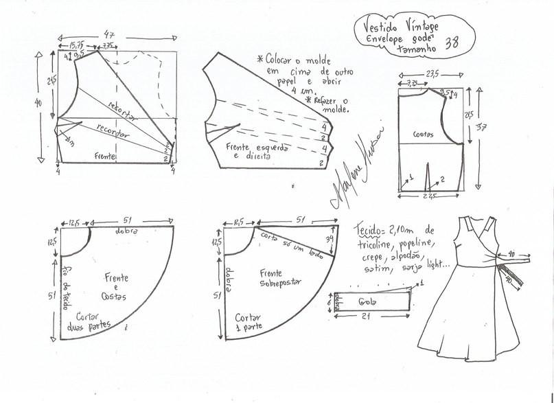 Выкройка летнего платья 48 размера чтобы сшить самой 6