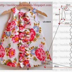 Выкройка платья для девочки 5-6 лет (Шитье и крой)