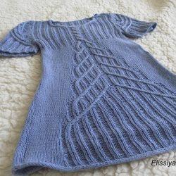 Детское платье спицами «Андромеда» (Вязание спицами)