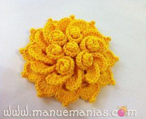 Интересный цветок крючком (Вязаные цветы)
