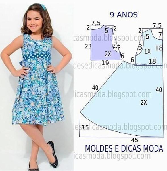 Шьем платья для девочек 10 лет своими руками