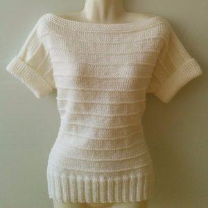 Кофточка с коротким рукавом спицами (Вязание спицами)