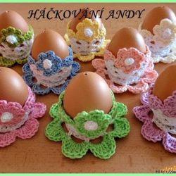 Вязаные подставки для пасхальных яиц (Вязание крючком)