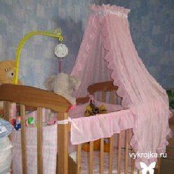 Выкройка балдахина на детскую кроватку (Шитье и крой)