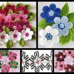 Красивые цветочки крючком (Вязаные цветы)