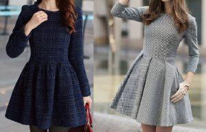 Выкройка платья с длинным рукавом (Шитье и крой)