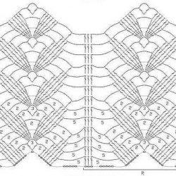 Узоры для вязания палантинов крючком (УЗОРЫ КРЮЧКОМ)