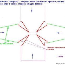 Расчет реглана при вязании снизу (Уроки и МК по ВЯЗАНИЮ)