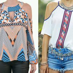 Выкройка блузы с открытыми плечами (Шитье и крой)