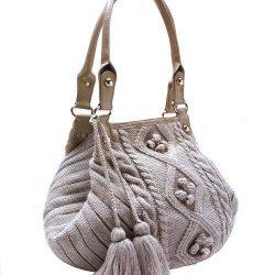 Стильная сумочка (Вязание спицами)