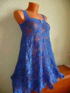 Платье летнее сарафан крючком (Вязание крючком)