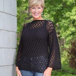 Ажурный пуловер (Вязание спицами)