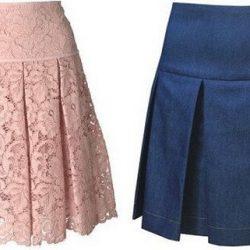 Выкройка юбки на кокетке с бантовыми складками (Шитье и крой)