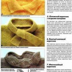 Способы обработки горловины изделия (Уроки и МК по ВЯЗАНИЮ)