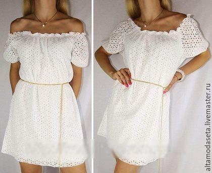 Выкройка летнего платья с резинкой