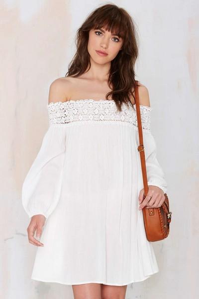 Платья из хлопка с открытыми плечами