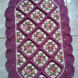 Овальный коврик (Вязание крючком)