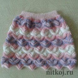 Юбочка для девочки от Натальи Пищидиной  (Вязание спицами)