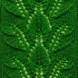 Узоры спицами «Гирлянда листьев» (УЗОРЫ СПИЦАМИ)
