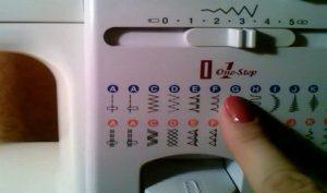 Обозначение строчек на швейных машинах