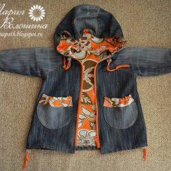 Детская джинсовая курточка и рюкзачок (Шитье и крой)