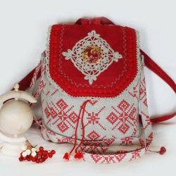 Шьем льняную сумку-рюкзак в русском стиле (Шитье и крой)