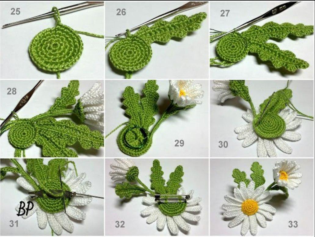 Цветы брошь крючком схема и описание фото 161