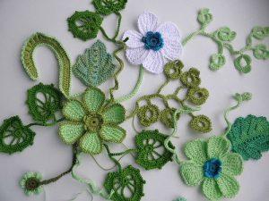 МК — ЦВЕТЫ В ТУНИСКОЙ ТЕХНИКЕ (Вязаные цветы)