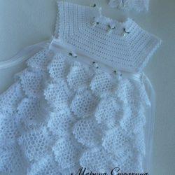 Платьице и повязка для малышки (Вязание крючком)