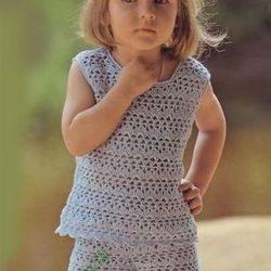 Топ и шорты на девочку 1.5-2 года (Вязание крючком)