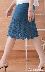 Вязаная юбка от дизайнера Cecily Glowik MacDjnald (Вязание спицами)