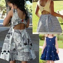 Выкройка платья с открытой спиной для детей от 1 до 14 лет (Шитье и крой)