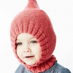 Очень удобная шапочка для ребенка (Вязание спицами)