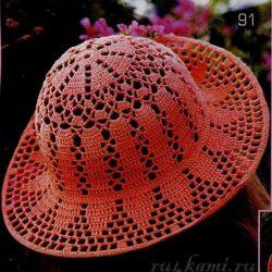 Вязаная шляпа крючком для лета (Вязание крючком)