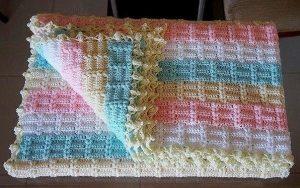 Красивый плед крючком. Схемы вязания (Вязание для дома)