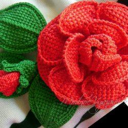Шикарные розы тунисским вязанием (Вязание крючком)