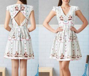 Выкройка летнего платья с открытой спиной (Шитье и крой)